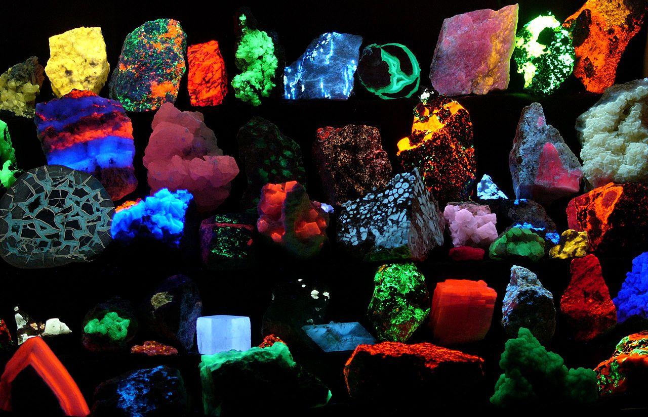 Fluoreszierende Mineralien