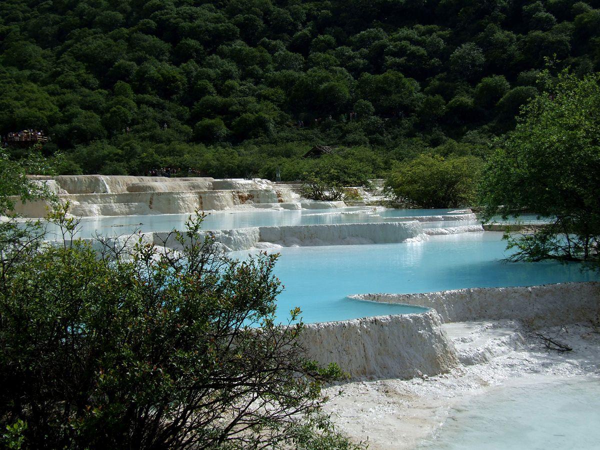 Kalksteinpools - Huanglong NP - Sichuan - China-